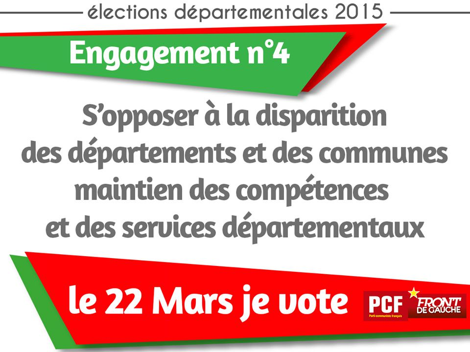 Elections départementales : le PCF s'engage ! (4)