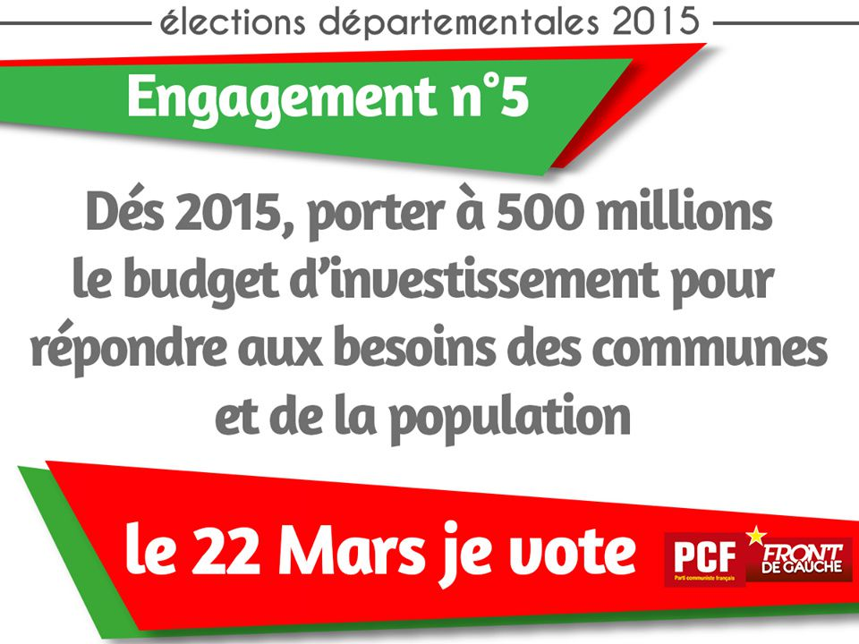 Elections départementales : le PCF s'engage ! (5)