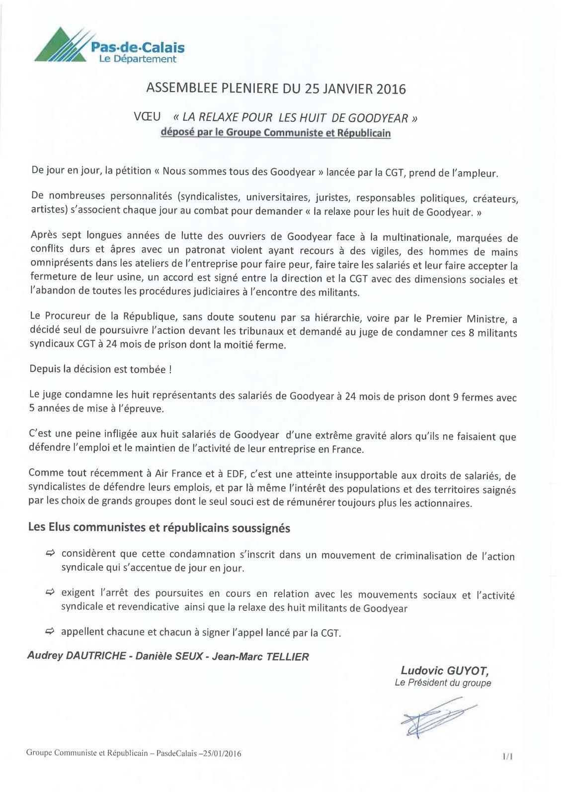 Conseil Départemental du 62: Intervention du groupe Communiste et Républicain