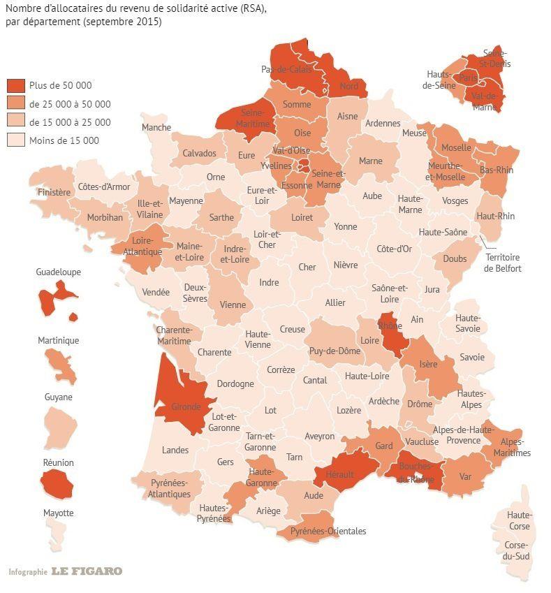De plus en plus de PAUVRES en FRANCE : 2,5 millions de Français touchent le RSA (32% de plus qu'en 2009)