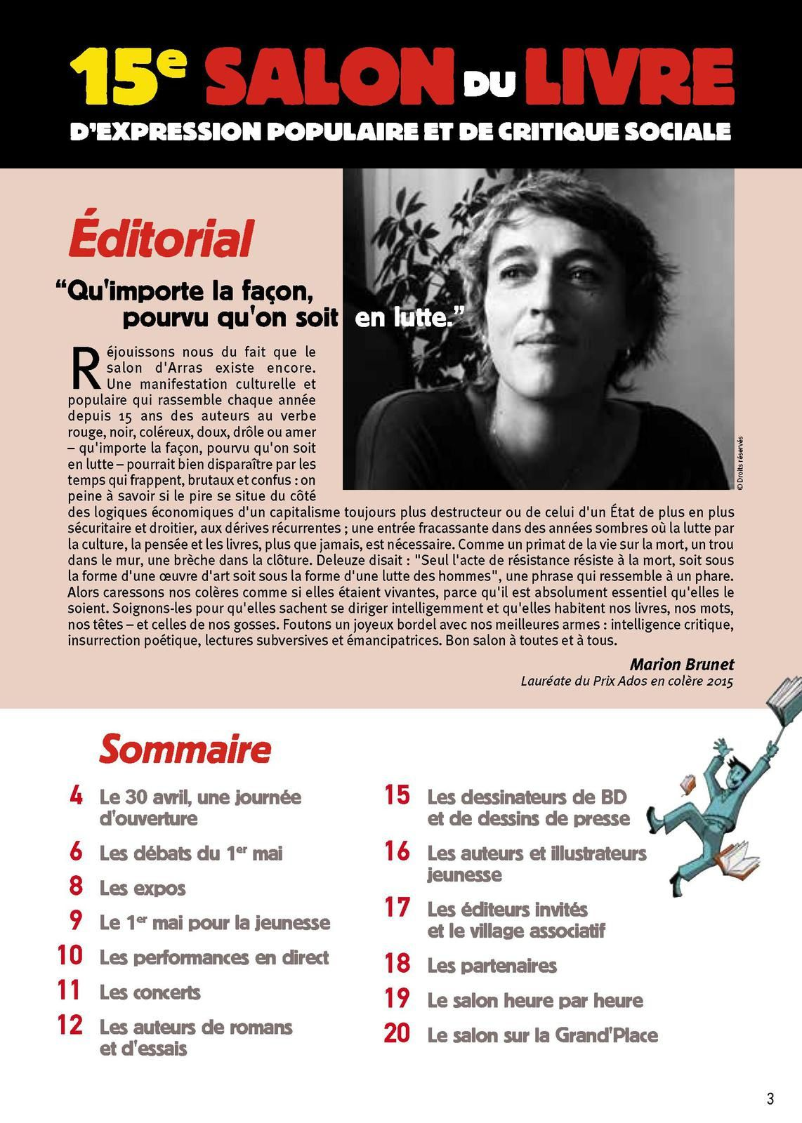 Arras: 15ème Salon du livre d'expression populaire et de critique sociale