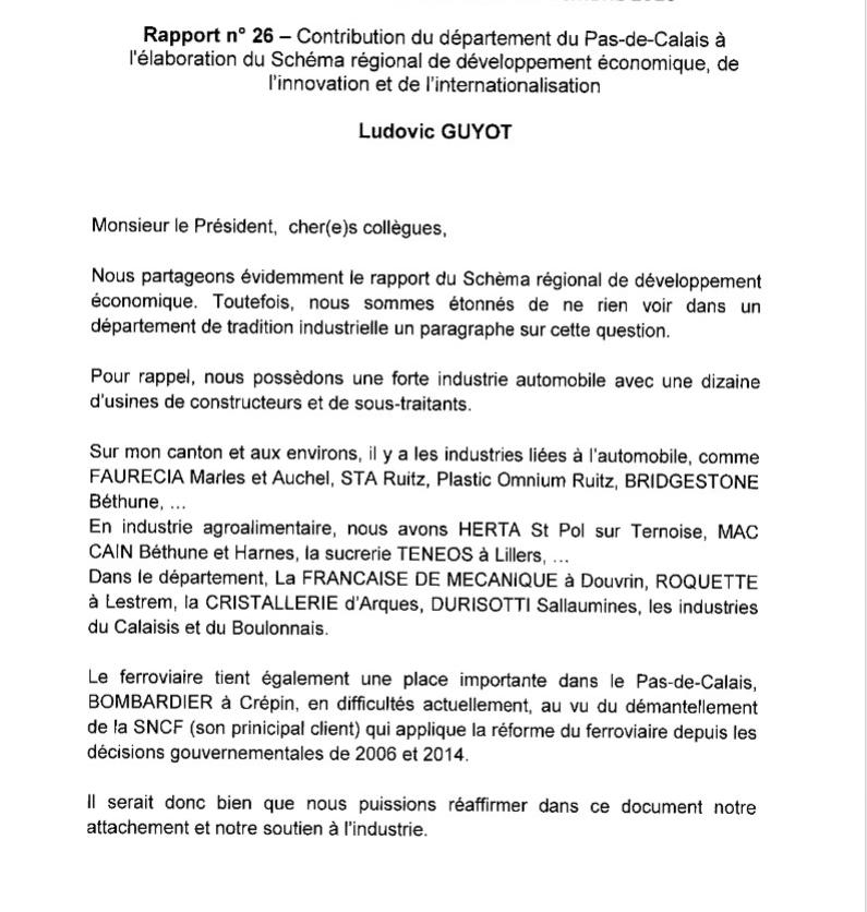 Intervention en commission plénière les 26 et 27 septembre 2016 du groupe communiste au conseil départemental