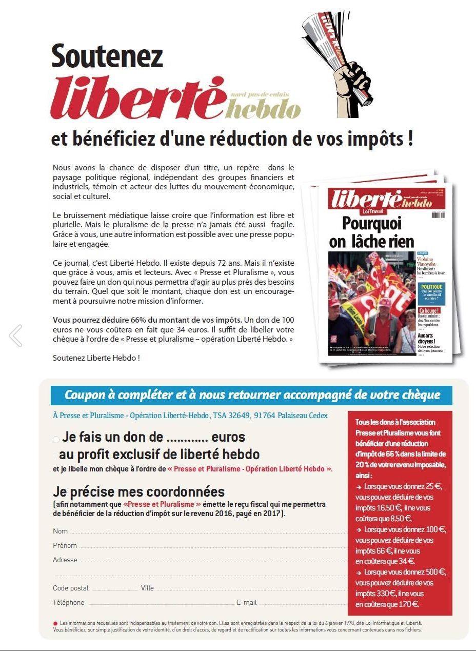 Liberté Hebdo est votre journal, nous faisons appel à vous :