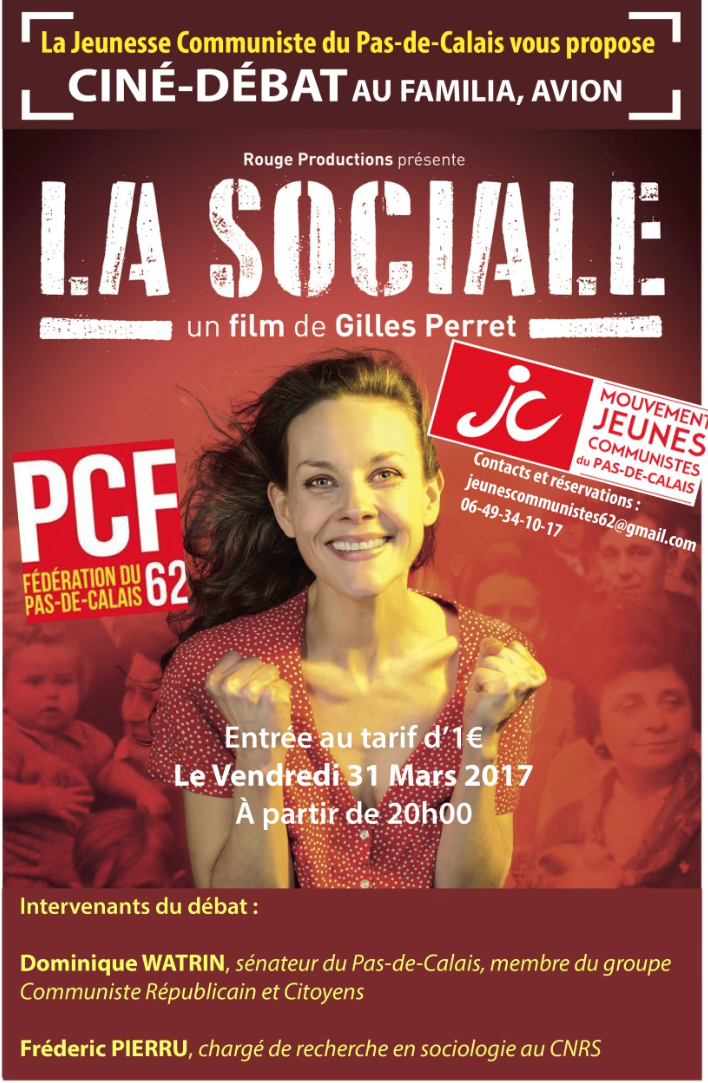 Jeunesse Communiste du Pas de Calais: Projection du film &quot&#x3B;La Sociale&quot&#x3B;