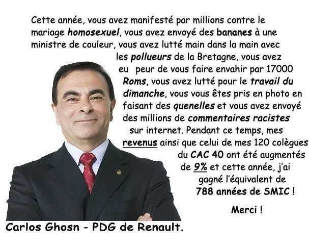 Carlos Ghosn vous dit merci !