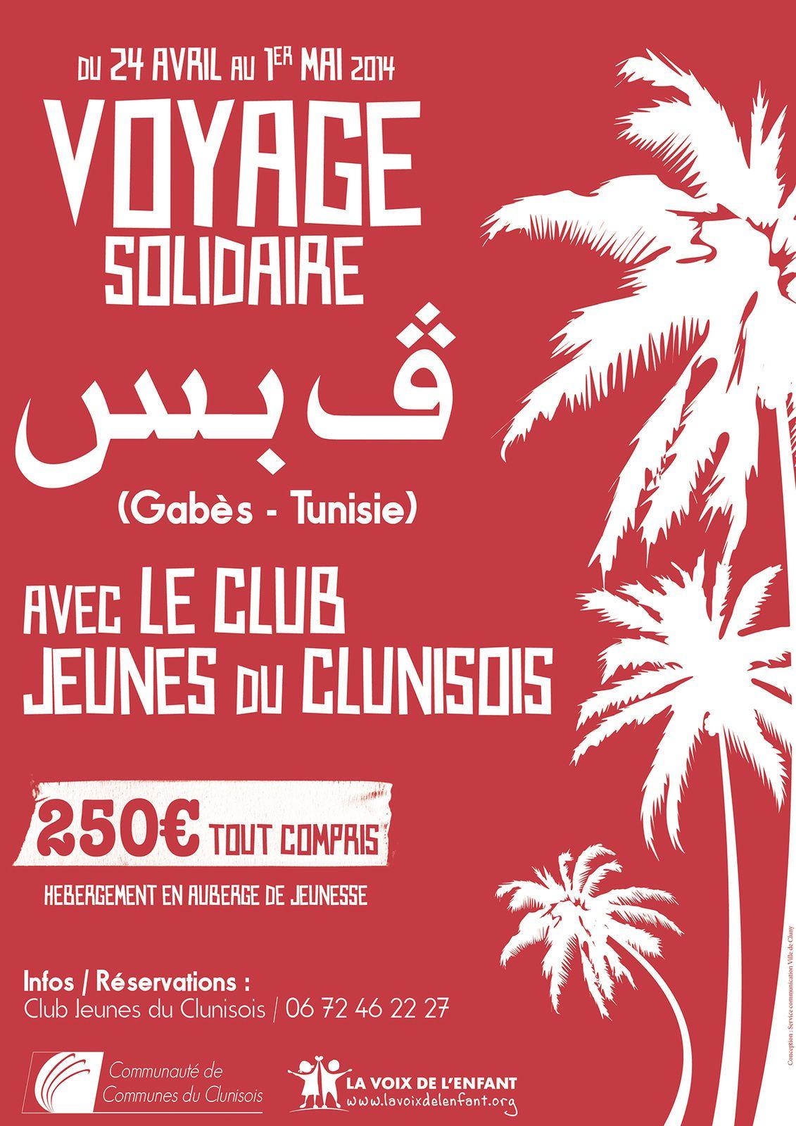 Voyage Solidaire en Tunisie du 24 avril au 1er mai