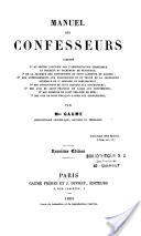 Couverture d'un manuel de confesseur