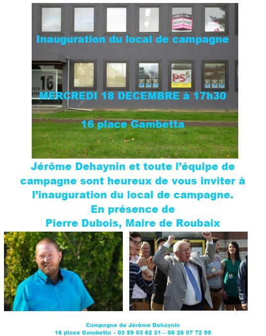 Inauguration du local de campagne