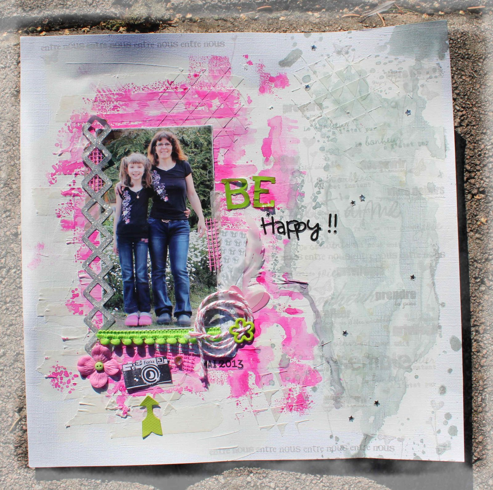 challenge inspiration blog Un Air de Scrap