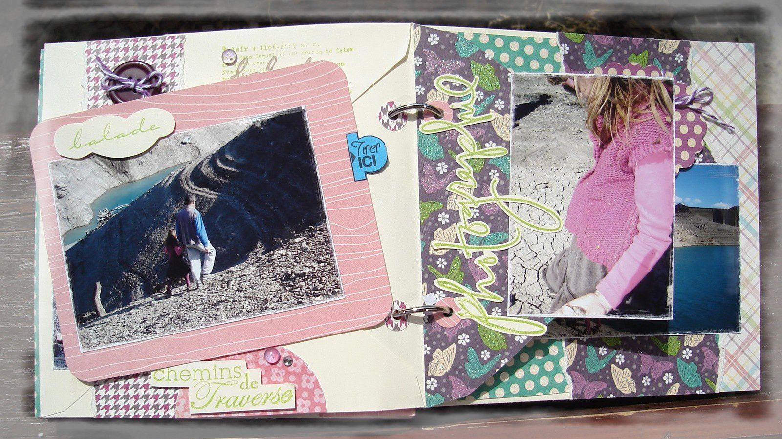 Mini-album enveloppes &quot&#x3B;écouter chanter les arbres&quot&#x3B;