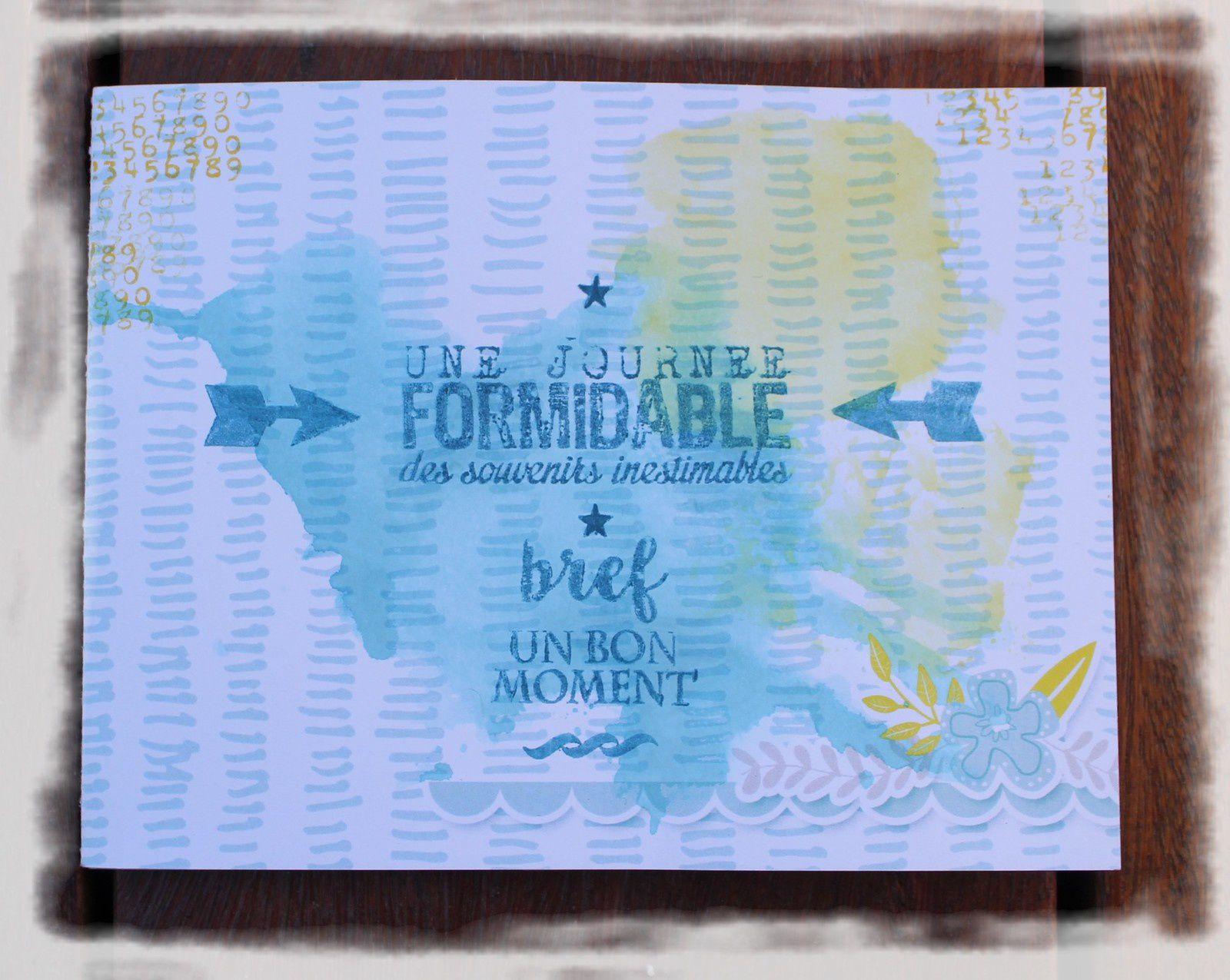 les tâches jaune et bleu sont faites avec un feutre Mémento et de l'eau, sur quasi toutes les pages de l'album