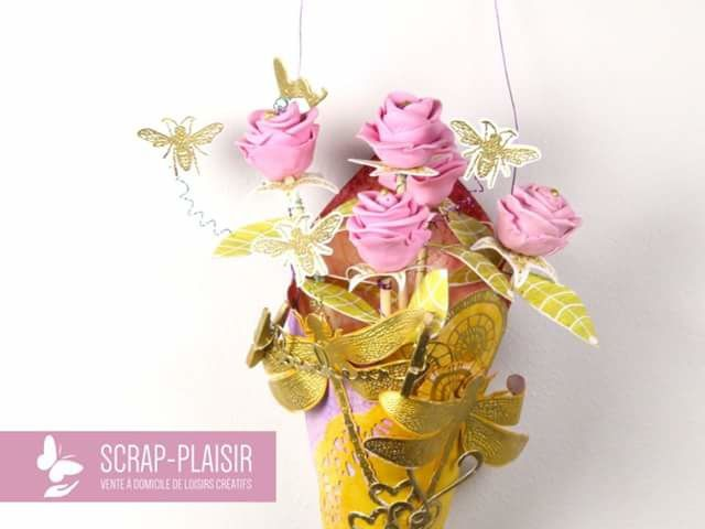 1 bouquet de roses suspension