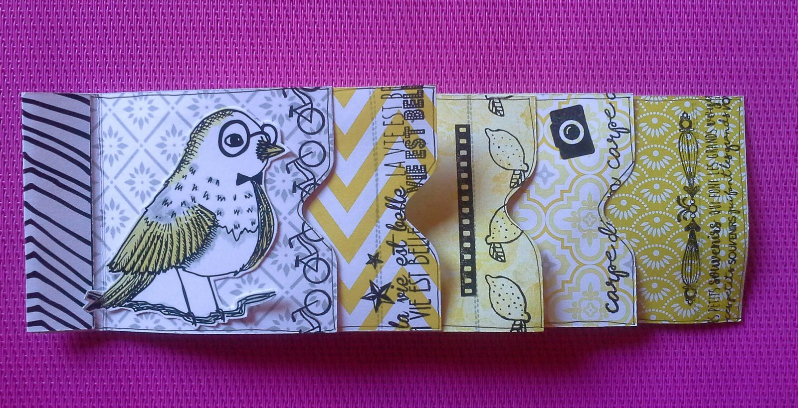 Miniset d'avril Scrap Plaisir - mini album pepsy