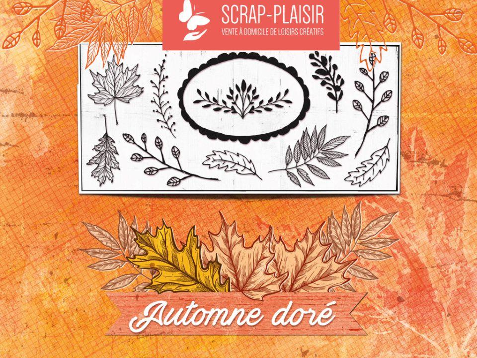 """Planche de tampons et papiers collection """"Automne Doré"""""""