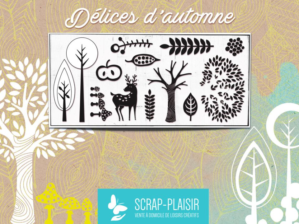 """Planche de tampons et papiers collection """"Délices d'Automne"""""""