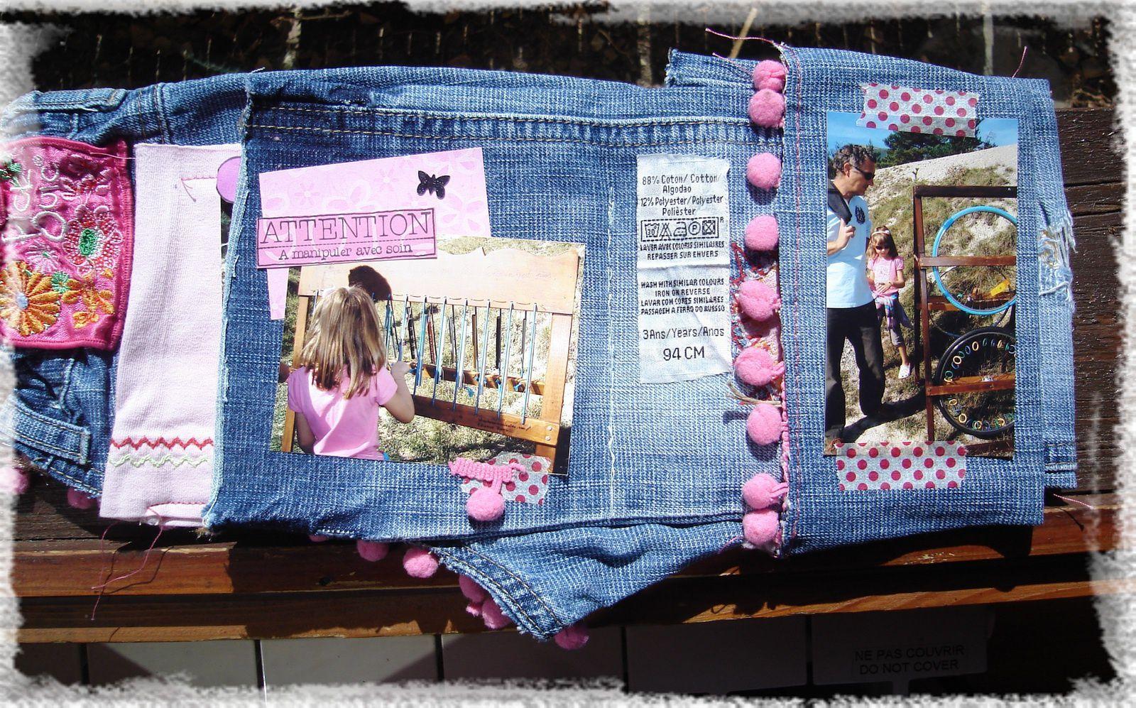 mini album en jeans