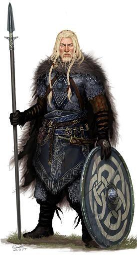 """Harald Sveinson, marin d'expérience, capitaine du """"souffle de Njörd"""", chef des forces maritimes de Hrolfsborg (joué par Enzo)"""