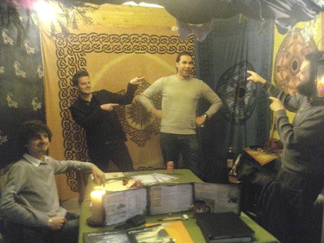 De Gauche à droite : Fabien, Arnaud, Fred, Giani.