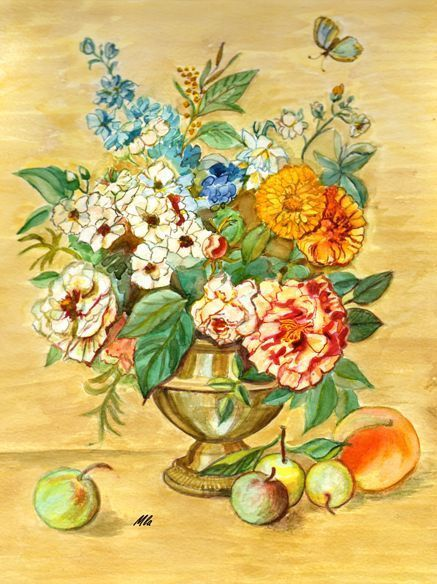 Bouquet et fruits