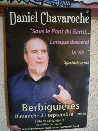 Daniel Chavaroche conte le pont du Garrit