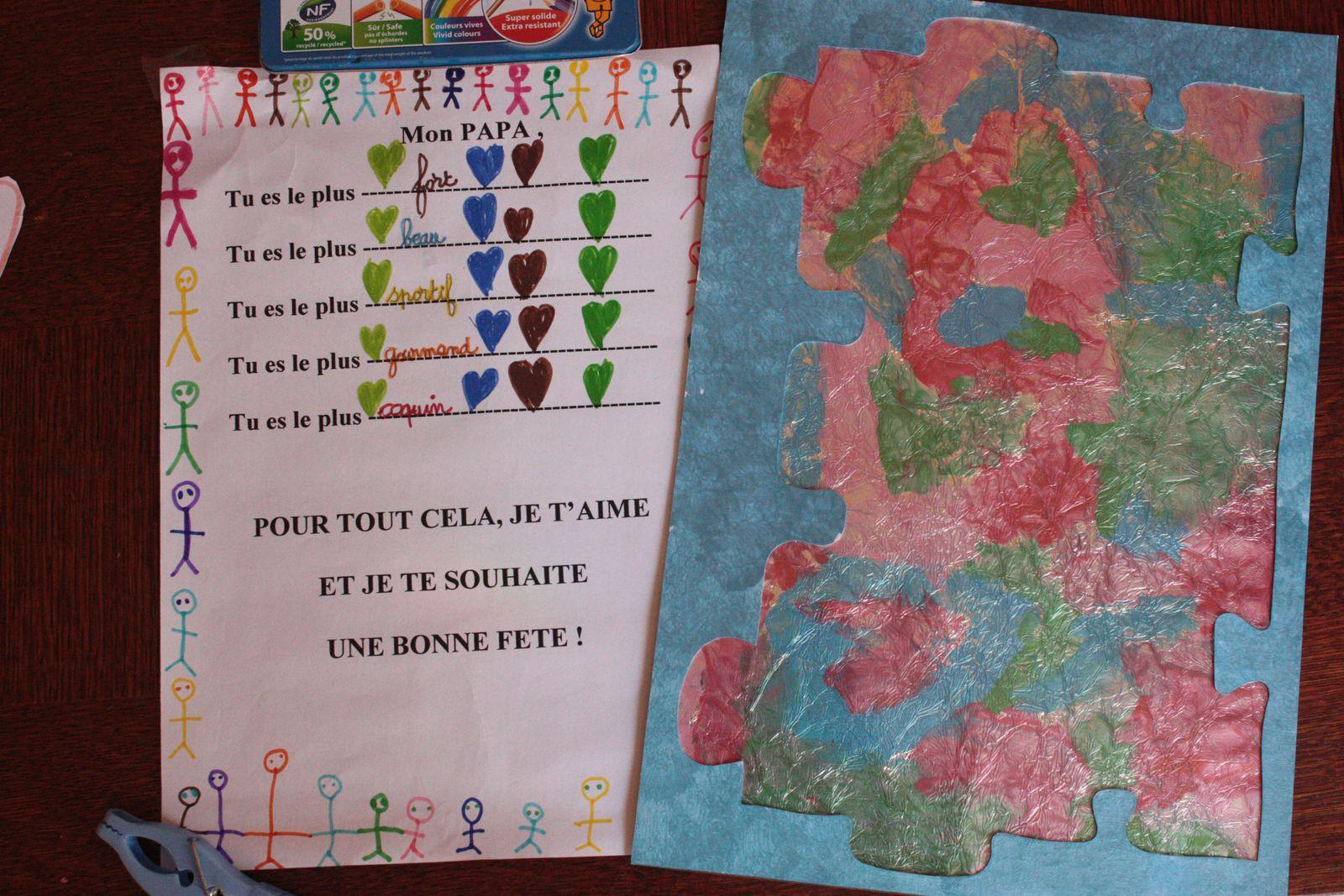 Petite lettre et tableau pour Mam'zelle !!!