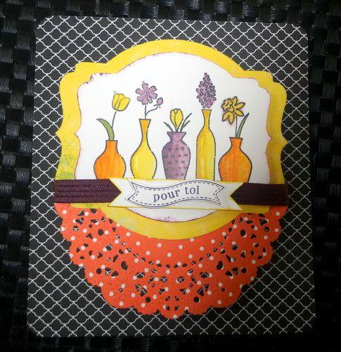 nouveauté tampon &quot&#x3B;vivid vases&quot&#x3B; et encres à alcool