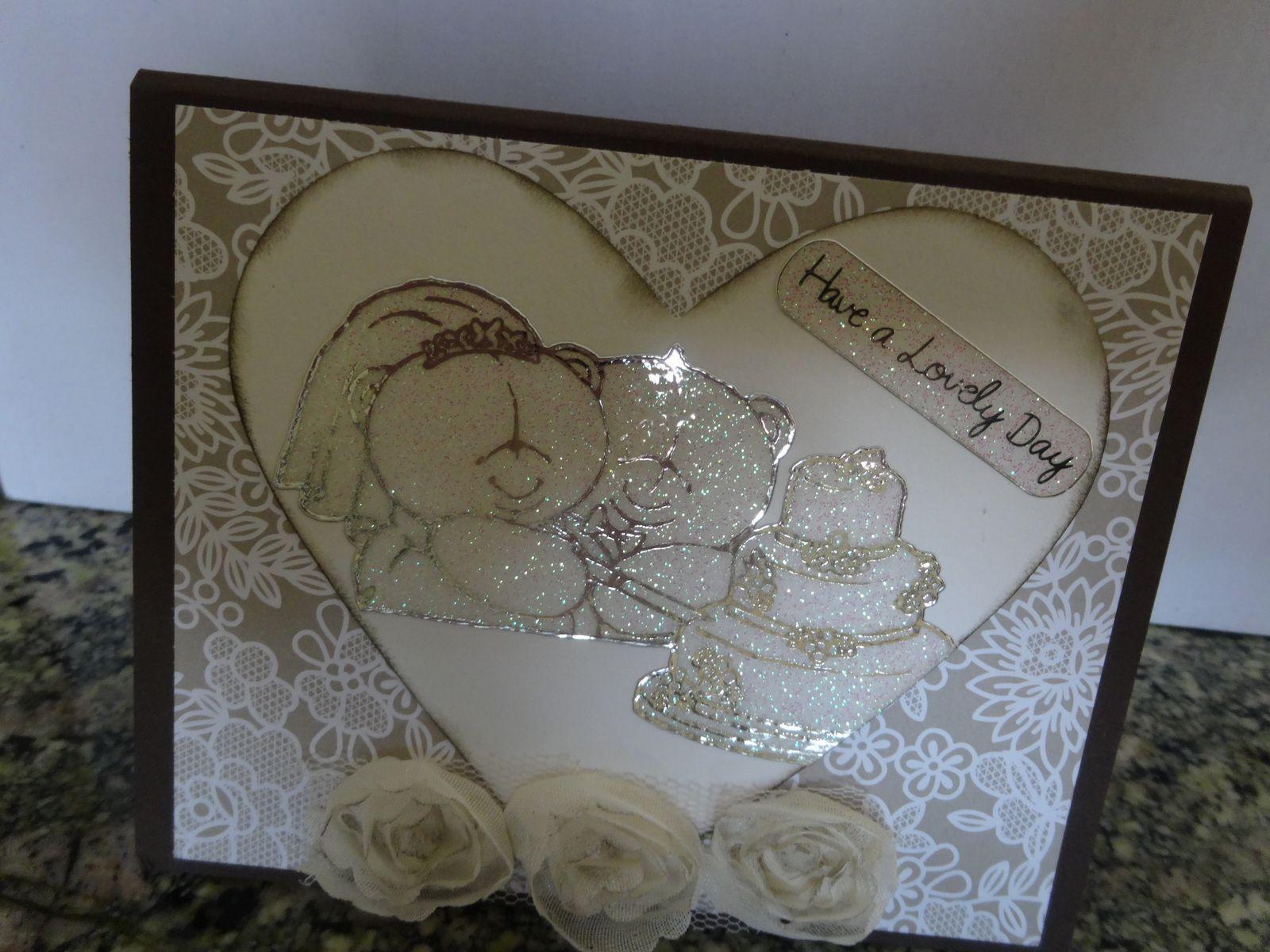 carte félicitations réalisée pour le mariage d'une amie