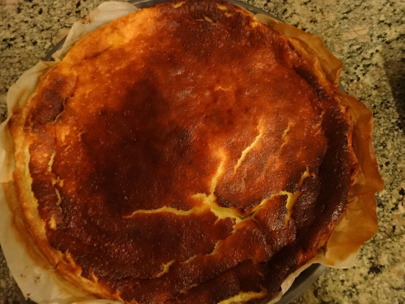 Une tarte au fromage blanc
