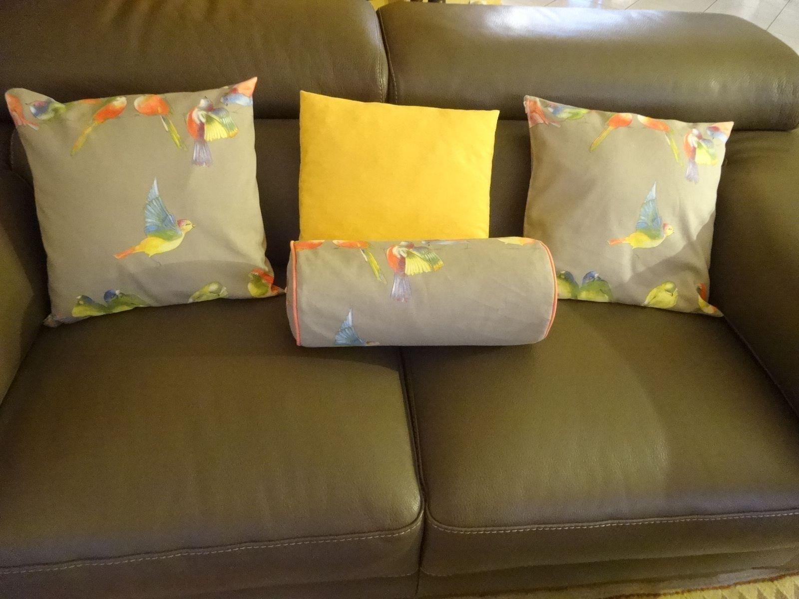 Toujours dans la couture : des coussins pour mon canapé