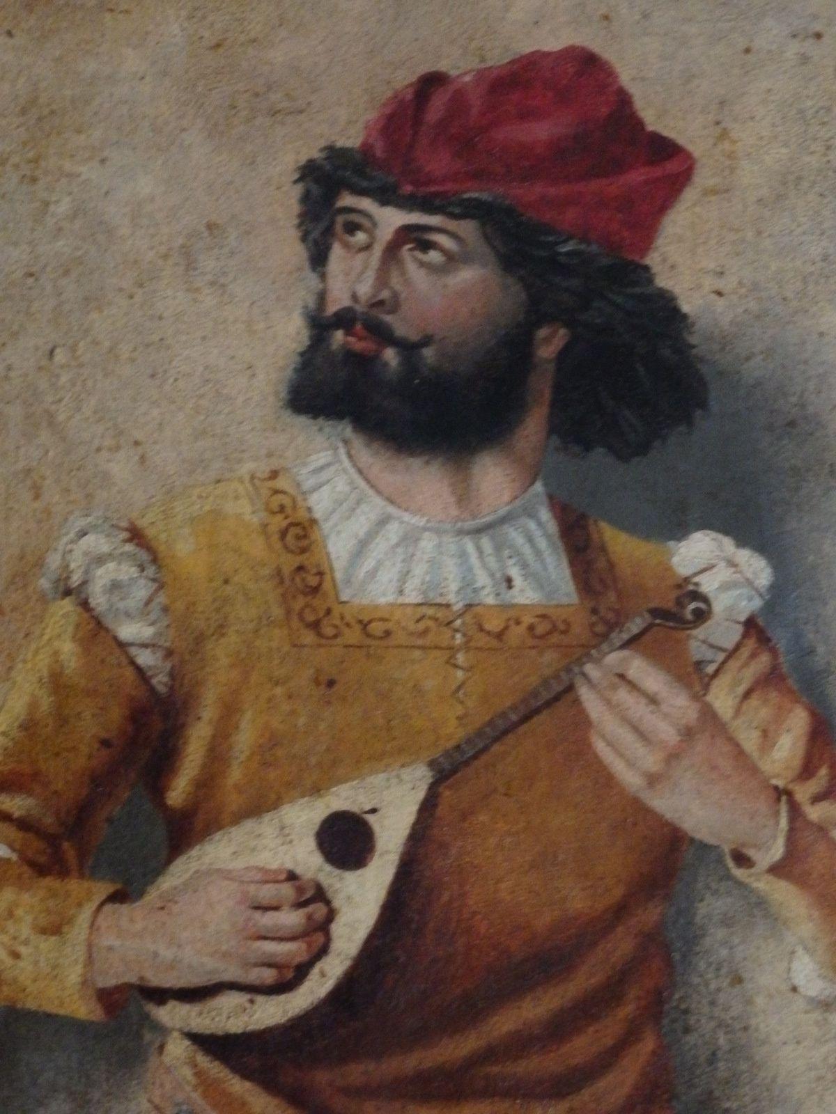 Gimenez-Gavarre (peinture) : le joueur de mandoline