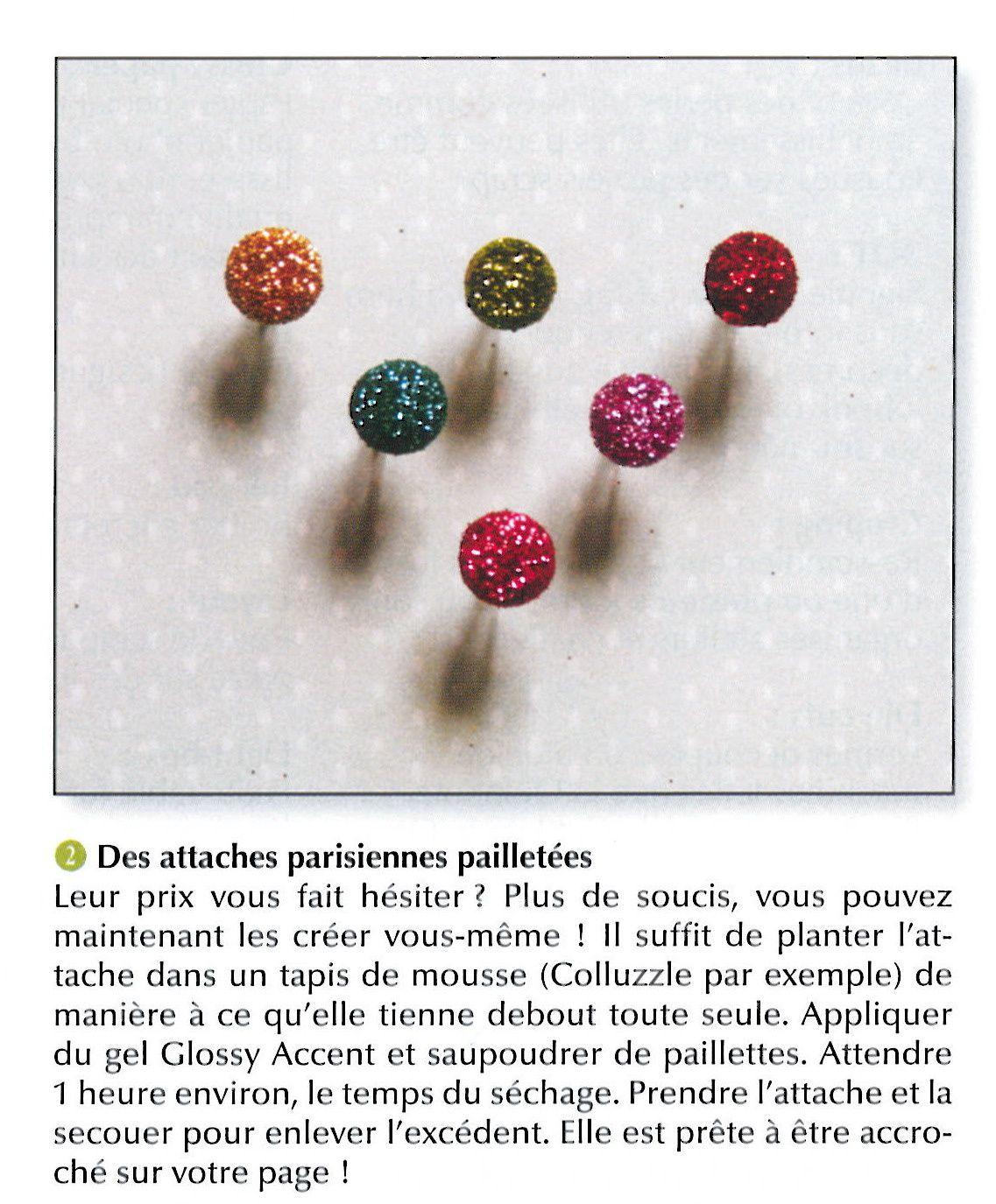 Astuce attaches parisiennes à paillettes
