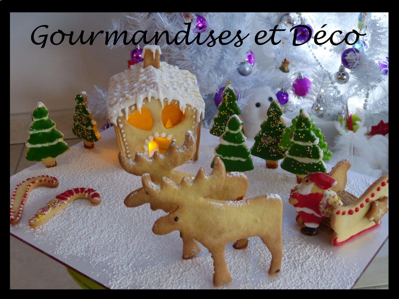 Maison de Noël en sablés