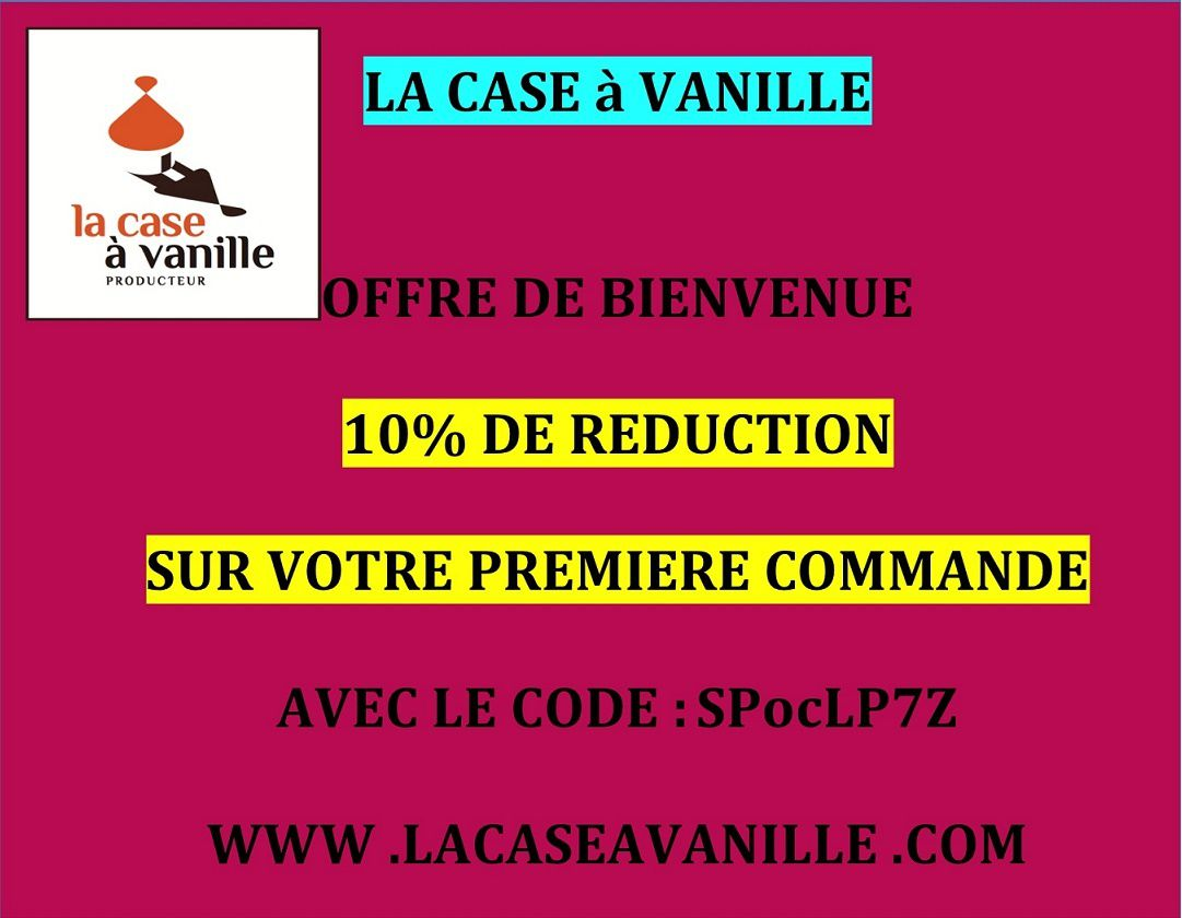 Code réduction chez La case à Vanille