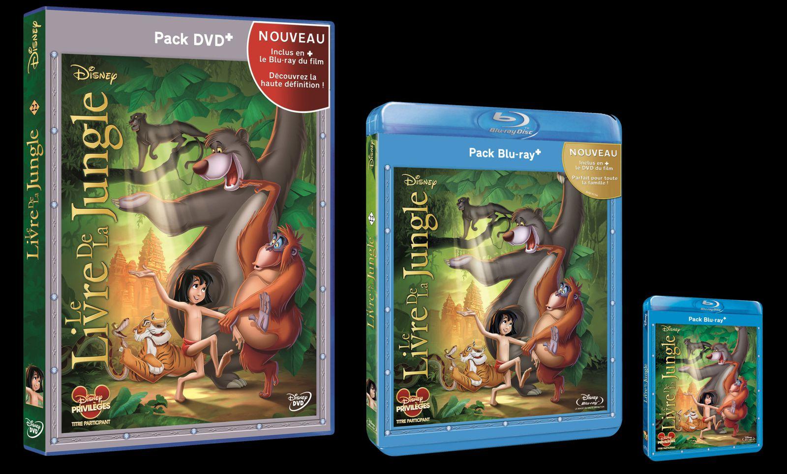 Le Livre de la Jungle : Pour la première fois en Blu-ray le 21 Août 2013
