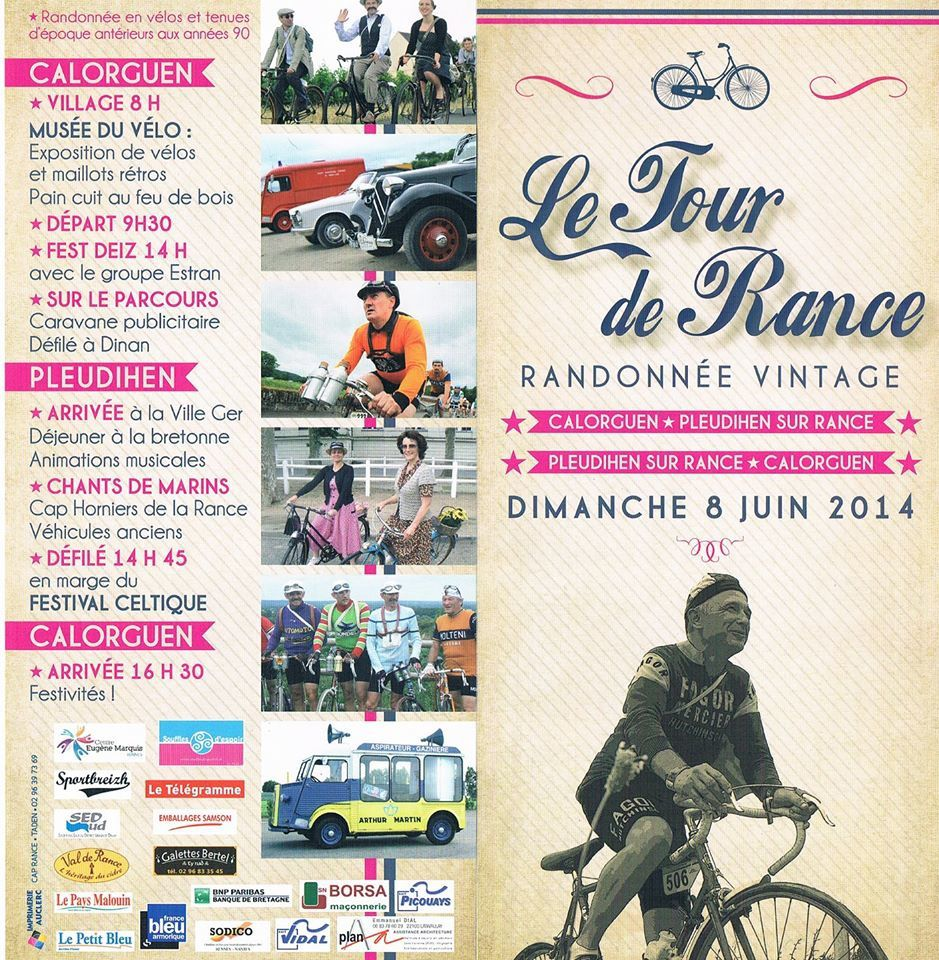 LE TOUR DE RANCE VINTAGE - DINAN - 8 JUIN 2014 (PHOTOS)