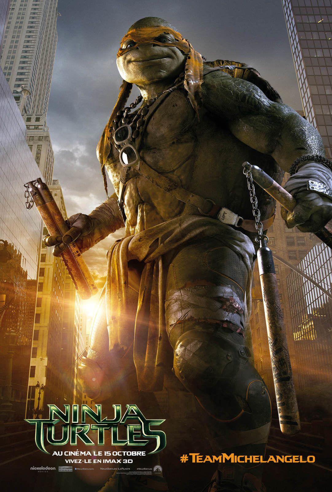 NINJA TURTLES - Découvrez qui se cache derrière chacun de nos super-héros avec de nouvelles affiches ! Au cinéma le 15 octobre 2014