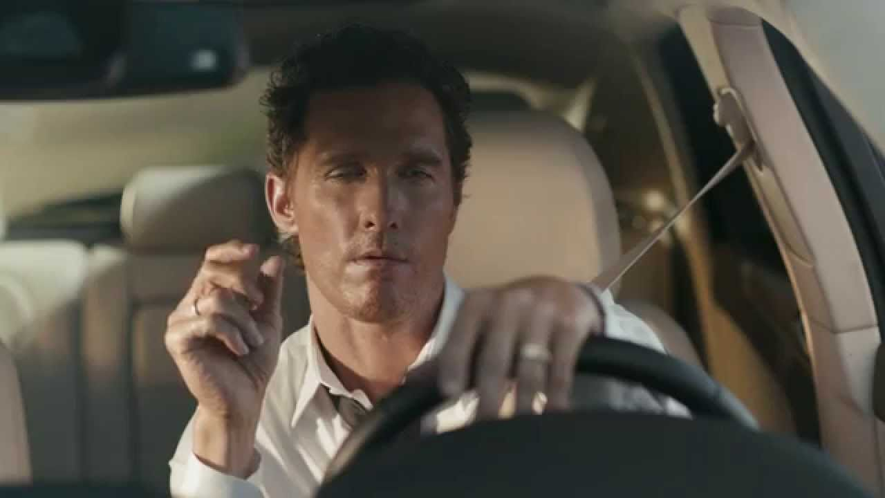 Matthew McConaughey - The first-ever Lincoln MKC (PUB voiture)