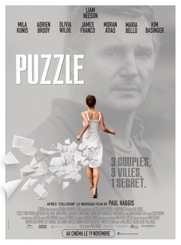 Puzzle (BANDE ANNONCE VOST) avec Liam Neeson, Mila Kunis, Adrien Brody, Olivia Wilde - 19 11 2014 (Third Person)