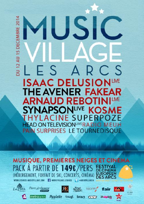 J-14 avant le MUSIC VILLAGE des Arcs, 1ère édition