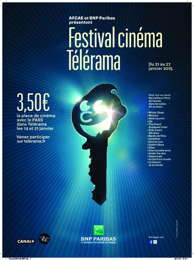 Festival Cinéma Télérama 2015 (BANDE ANNONCE) Du 21 au 27 janvier 2015.