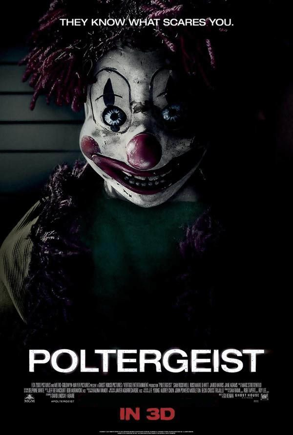 Poltergeist (2015) (2 extraits : Clown - Les ombres VF et VOST) avec Sam Rockwell, Rosemarie DeWitt, Jared Harris - 24 06 2015