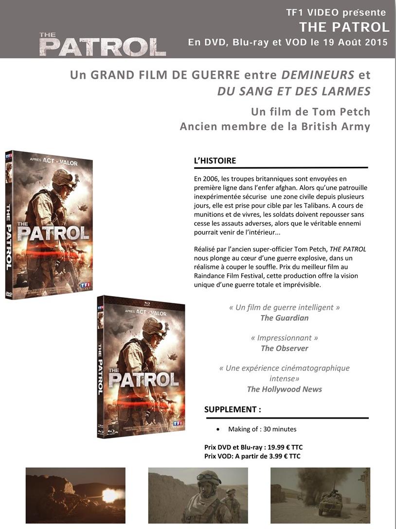 THE PATROL - disponible en DVD, Blu-Ray et VOD depuis le 19 août 2015 chez TF1 Vidéo