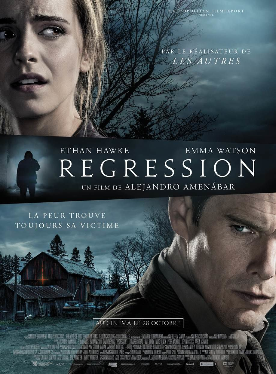 REGRESSION le nouveau thriller de Alejandro Amenábar le 28 octobre 2015 au cinéma ! Trois extraits avec Ethan Hawke en pleine crise de paranoïa !