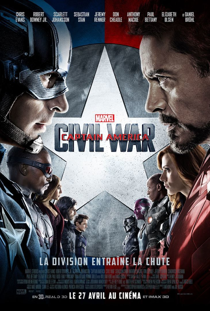 Captain America : Civil War (BANDE ANNONCE VF et VOST) avec Chris Evans, Robert Downey Jr., Scarlett Johansson - 27 04 2016
