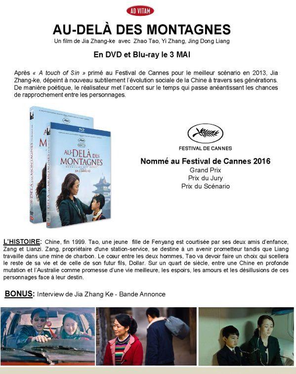 Au delà des montagnes - Le 3 mai 2016 en DVD/Blu-ray chez AD VITAM