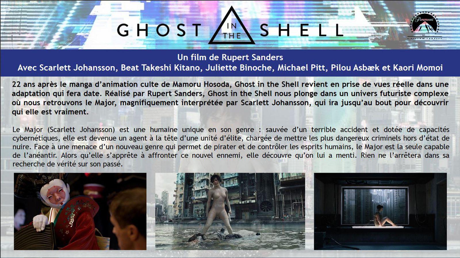 GHOST IN THE SHELL avec Scarlett Johansson, Takeshi Kitano - Sortie vidéo le 31 Juillet 2017