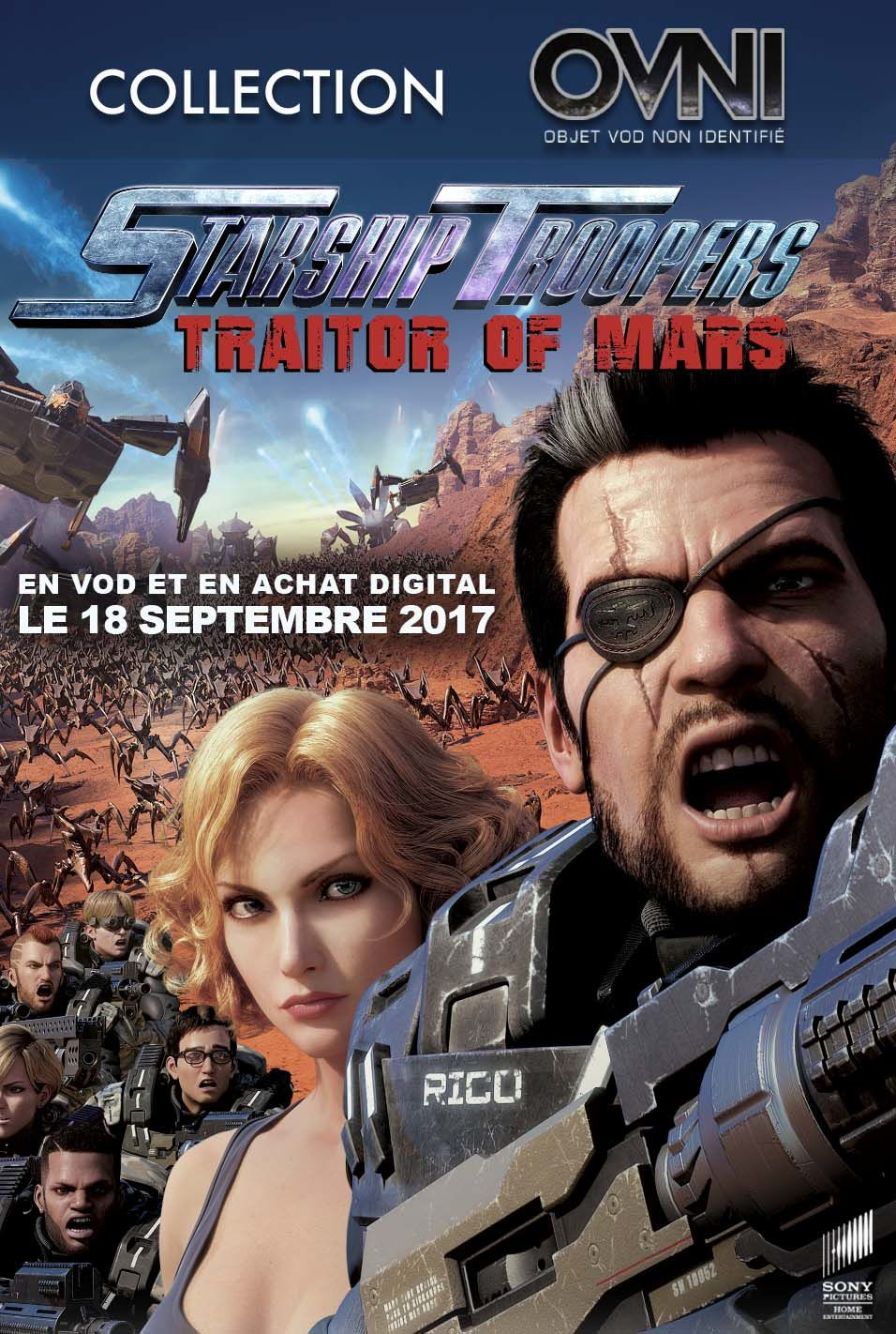 STARSHIP TROOPERS : TRAITOR OF MARS - En VOD et achat digital, le 18 septembre 2017