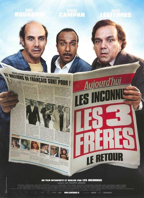 Les Trois Frères : le retour (BANDE ANNONCE) de et avec Didier Bourdon, Bernard Campan, Pascal Légitimus - 12 02 2014