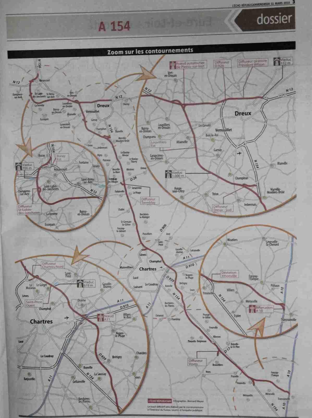 Le tracé de l'A154 dévoilé par l'Etat