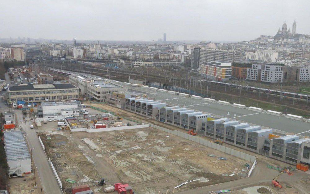 Vue du chantier Chapelle International  -  Document LP/B.H. - mars 2017
